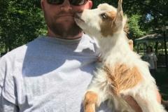 Mr. Hicks with mini goat