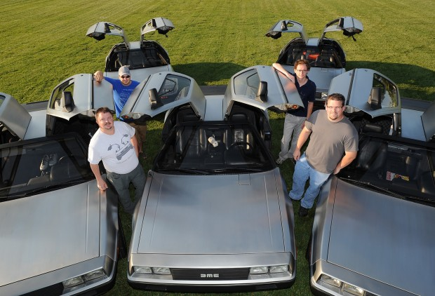 Photo: Billings DeLorean Club Members (Clockwise): Brock Williams, Justin Voeller, Vern Ball, and Nick Lambert; Not pictured: Bill Murphy Photo courtesy of Larry Mayer of Billings Gazette